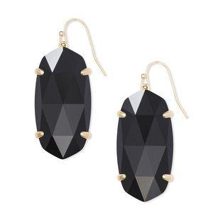 Kendra Scott Esme Gold Drop Earrings In Black NWOT